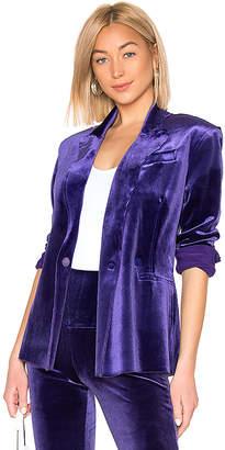 Norma Kamali Double Breasted Velvet Jacket