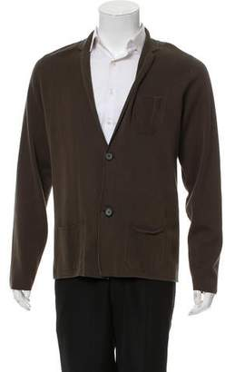 Lanvin Woven Reverse Stitched Cardigan