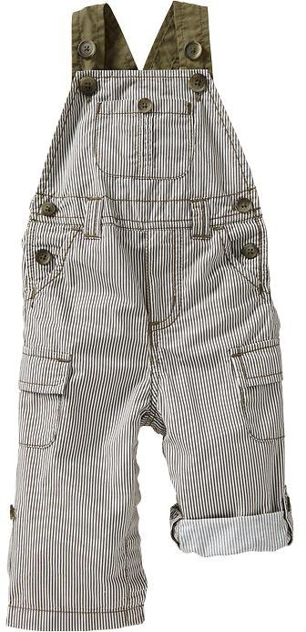 Old Navy Striped Poplin Overalls for Baby