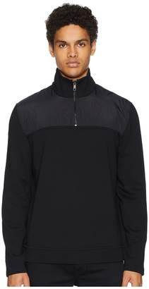 Vince Mixed Media 1/4 Zip Mock Neck Sweatshirt Men's Clothing