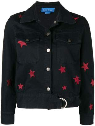 MiH Jeans star embroidered denim jacket