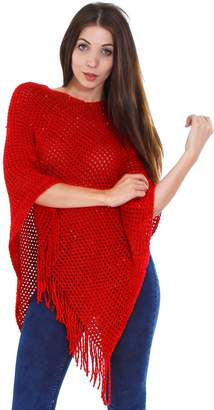 Simplicity Women Soft Knitted Poncho Cape Sweater Shawl Wrap