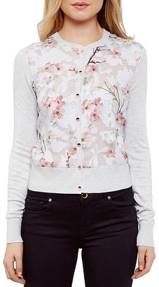 Ted Baker Floral Print Cardigan $195 thestylecure.com