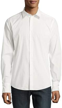 Roberto Cavalli Men's Woven Casual Button-Down Shirt