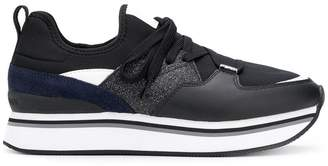 Emporio Armani flatform lace-up sneakers