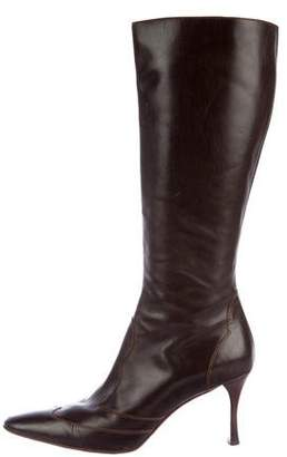 Lambertson Truex Leather Pointed-Toe Boots