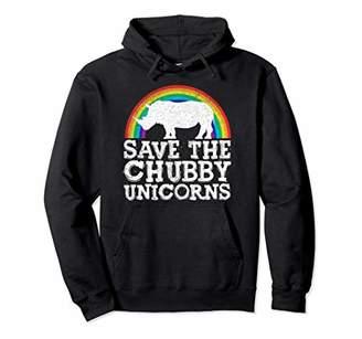 SAVE THE CHUBBY UNICORNS Hoodie Rainbow Rhino Rhinoceros