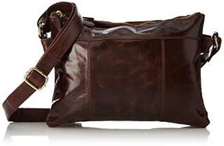 Tresori Women's Real Leather Small Cross over Bag with Front Zip