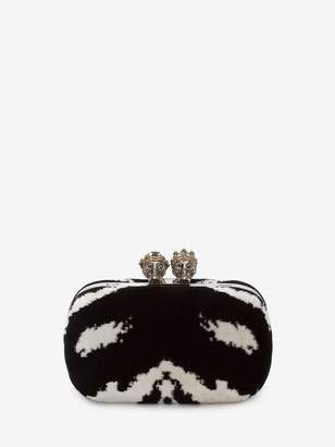 Alexander McQueen Queen And King Classic Skull Clutch