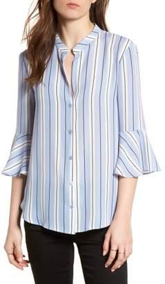 Lush Print Bell Sleeve Shirt