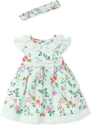 Little Me Garden Party Cotton Dress, Baby Girls