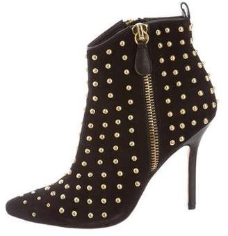 Isa Tapia Studded Pointed-Toe Boots