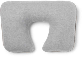 Loro Piana Suede-Trimmed Cashmere-Blend Travel Pillow