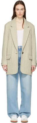 Etoile Isabel Marant Ecru Floyd Herringbone Coat