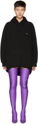 Balenciaga Black Logo Cocoon Hoodie $635 thestylecure.com