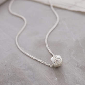 Q.U.E Scarlett Jewellery Sera Worry Bead Silver Necklace