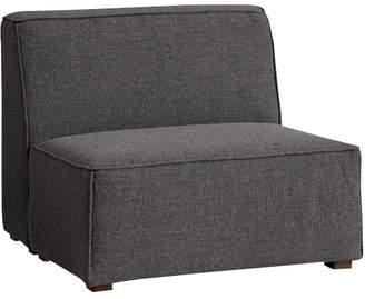 Pottery Barn Teen Riley Lounge Armless Chair, Charcoal Tweed, IDS