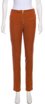 Rodebjer Mid-Rise Textured Skinny Pants