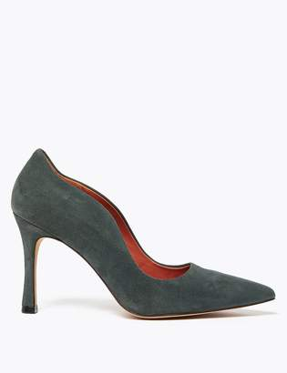 Marks and Spencer Suede Curved Side Stiletto Court Shoes