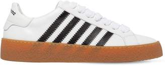 DSQUARED2 Rapper's Delight Stripe Leather Sneakers