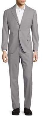 Black & Brown Black Brown Two Piece Wool Suit