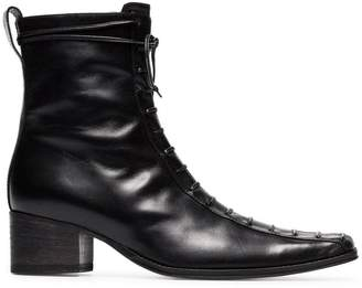 Haider Ackermann black lace up 50 leather boots