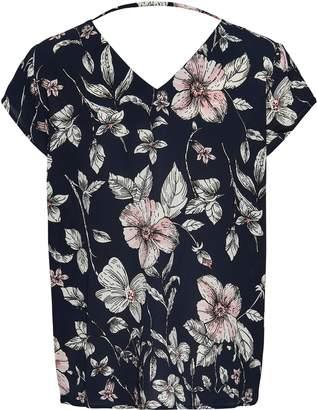 Dorothy Perkins Womens **Navy Floral Print Blouse