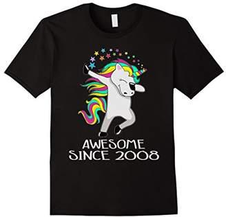 Kid 10 Yrs Old 10th Birthday Unicorn Shirt Gift 2008 Dabbing