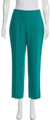 Oscar de la Renta Virgin Wool-Blend Pants