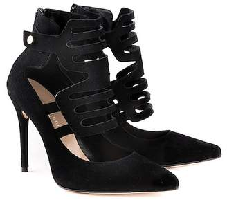 Formentini Perla Sonia Cutout Ankle Leather Pump