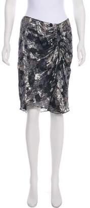 Isabel Marant Silk Metallic Skirt w/ Tags