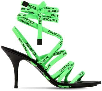 Balenciaga 90mm Logo Wrap Around Sandals