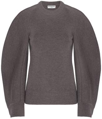 Balenciaga Round Neck Collar Sweater