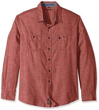 U.S. Polo Assn. Men's Slim Fit Solid Long Sleeve Sport Shirt