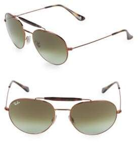 Ray-Ban 55MM Browline Aviator Sunglasses