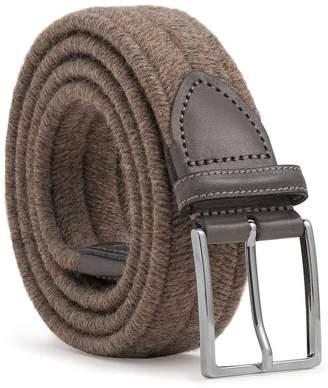 Dalgado - Elastic Braided Wool Belt Brown Antonio