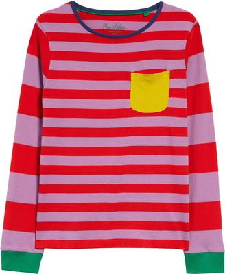 Boden Kids' Stripe Pocket T-Shirt