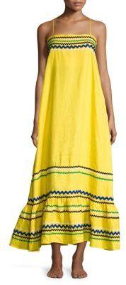 Lisa Marie Fernandez Ric Rac Linen Slip Dress $995 thestylecure.com