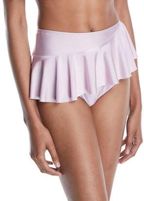 Tularosa Nala High-Waist Ruffle Skirted Bikini Bottom