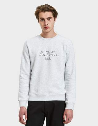 A.P.C. US Star Crewneck Sweatshirt