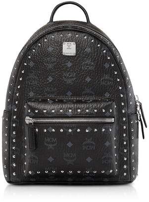 MCM (エムシーエム) - Mcm Small Black Studded Outline Visetos Stark Backpack