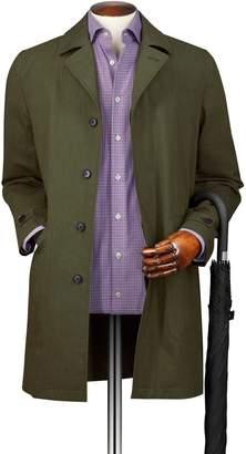 Charles Tyrwhitt Olive Italian Cotton Raincoat Size 38