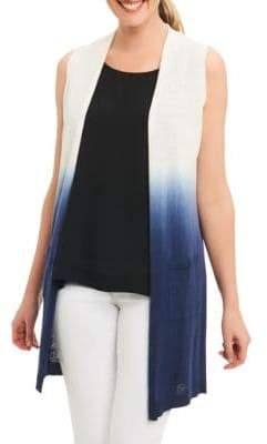 Foxcroft Dip Dyed Long Cardigan