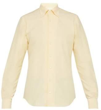 P. johnson P. Johnson - Half Placket Cotton Oxford Shirt - Mens - Yellow