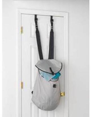 Laundry by Shelli Segal Homz Over-the-Door Backpack Hamper, Gray/Black