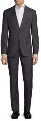 Ben Sherman Plaid Notch Suit