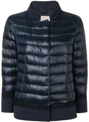Herno contrast border puffer jacket