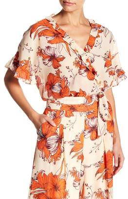 Lucy Paris Floral Wrap Blouse