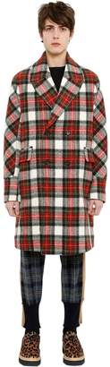 Stella McCartney Wool Tartan Double Breasted Coat