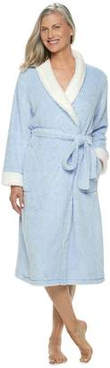 Croft & Barrow Women's Textured Plush Wrap Robe